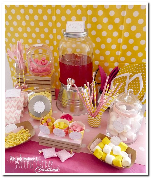sweet table événement mariage bapteme anniversaire communion - snoopiescrap 10 ans Manon - pyjama party - soirée pyj'