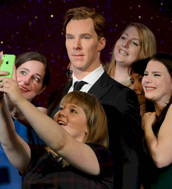 A work of art at Madame Tussauds, London!