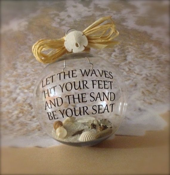 Nautical Ornament Beach Christmas Ornament by SimplySeasonals, $12.00