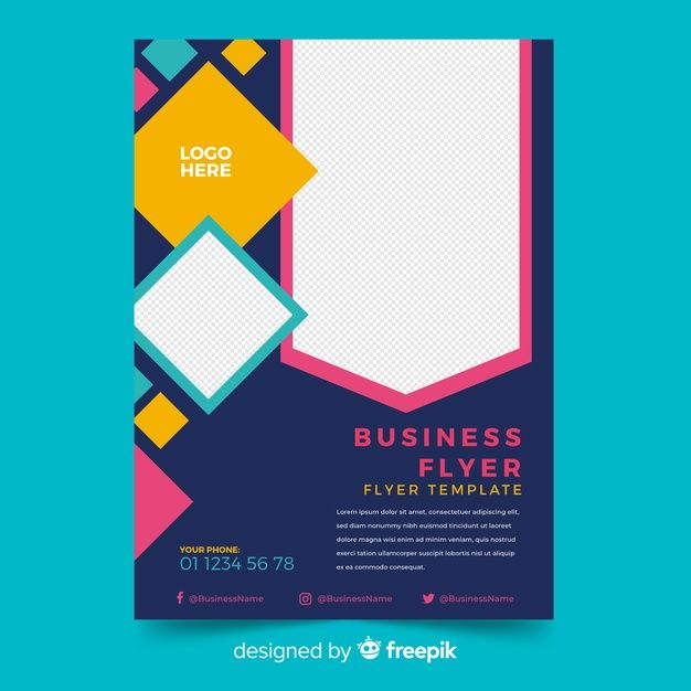 Mosaic Business Flyer Template With Copy Space Business Flyer Templates Flyer Template Business Flyer