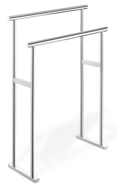 Features:  -Material: Mirror Polished 18/10 stainless steel.  -Scala collection.  Product Type: -Towel Rack.  Finish: -Stainless Steel.  Style: -Modern.  Mount Type: -Free Standing.  Primary Material:
