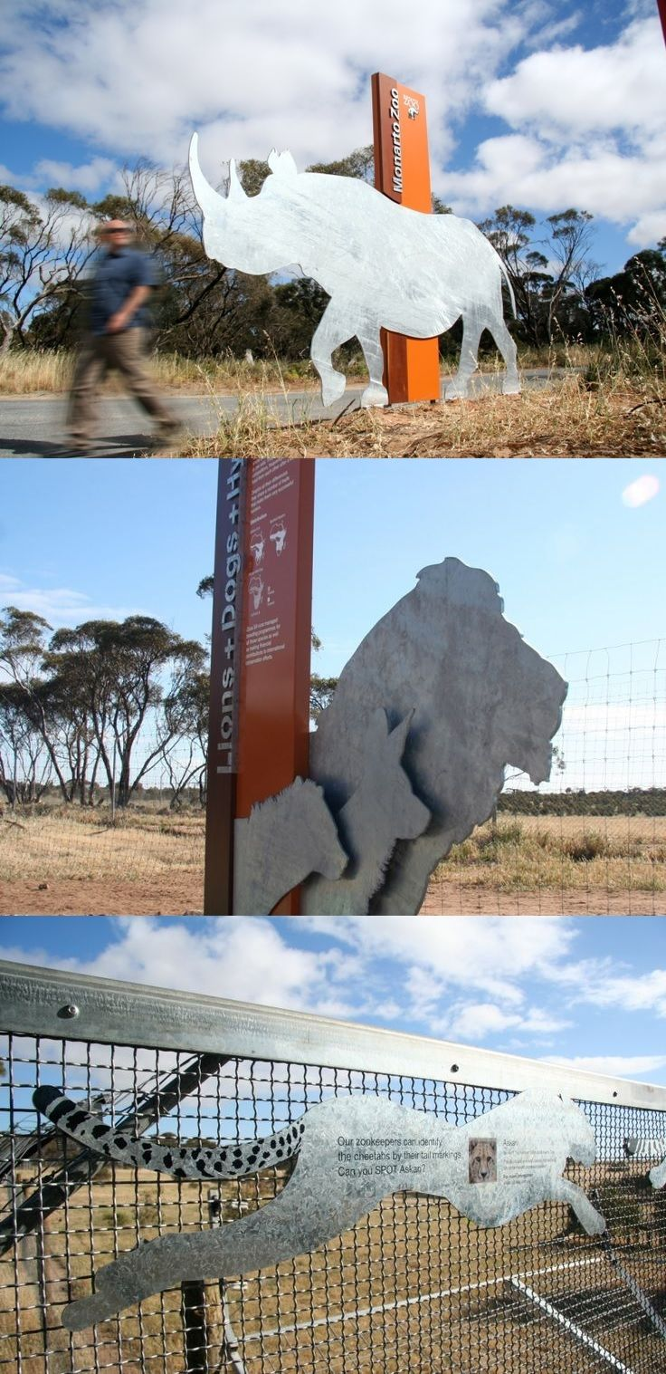 Monarto Zoo interpretive signage and wayfinding