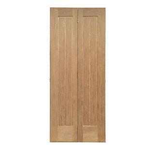 £155 Wickes Geneva Internal Bi-Fold Door Oak Veneer 5 Panel 1981x762mm