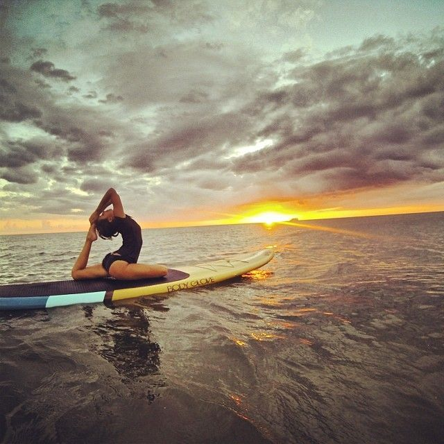 Yoga on a paddle board is both fun and challenging. Most places rent them now so grab one and get out there! Now, if the weather would work with me here in Iowa I would be out now!