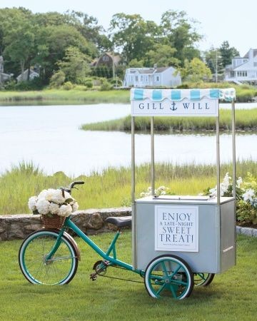 Ice Cream Cart- imagine this as a mobile #aromatherapy or mini services cart! What a hit!