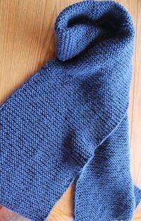 free beginner knit scarf pattern in garter stitch