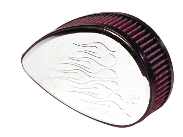 K&N HARLEY-DAVIDSON RK SERIES BILLET Air Filter Assemblies. *Sportster 1200cc 1991-97**TEARDROP FLAMMED*