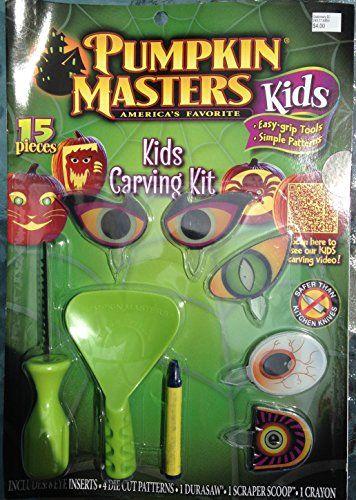 Pumpkin Masters Kids Pumpkin Carving Kit: 15 Pieces Safer Than Kitchen Knives @ niftywarehouse.com #NiftyWarehouse #Halloween #Scary #Fun #Ideas