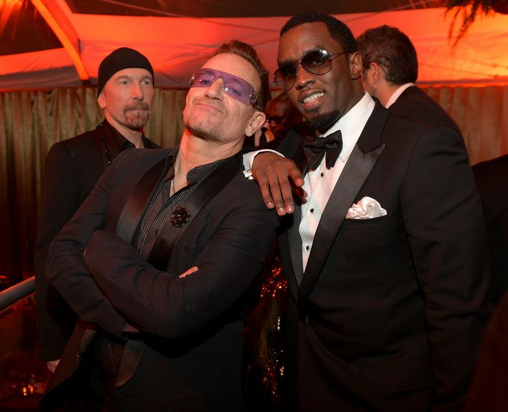 Bono from U2 and Sean Combs attend The Weinstein Company & Netflix's Golden Globes After Party at The Beverly Hilton Hotel on January 12, 2014 #u2NewsActualite #u2 #bono #PaulHewson #music #rock http://verysherry.tumblr.com/