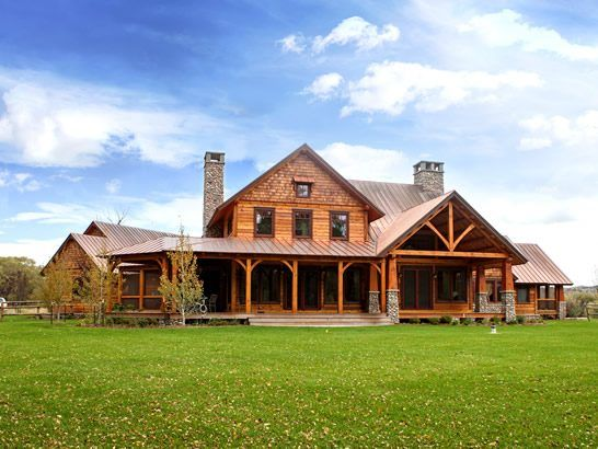 This beautiful timber frame home fits right in with the breathtaking Wyoming landscape.