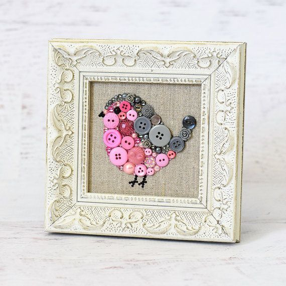 Benutzerdefinierte Baby Vogel Button Kunst
