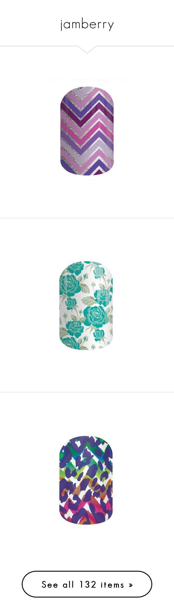 """""""jamberry"""" by krysla ❤ liked on Polyvore featuring happily ever after, jamberry, chevron, purple, sparkle, beauty products, nail care, nail treatments, nails and funky cheetah"""