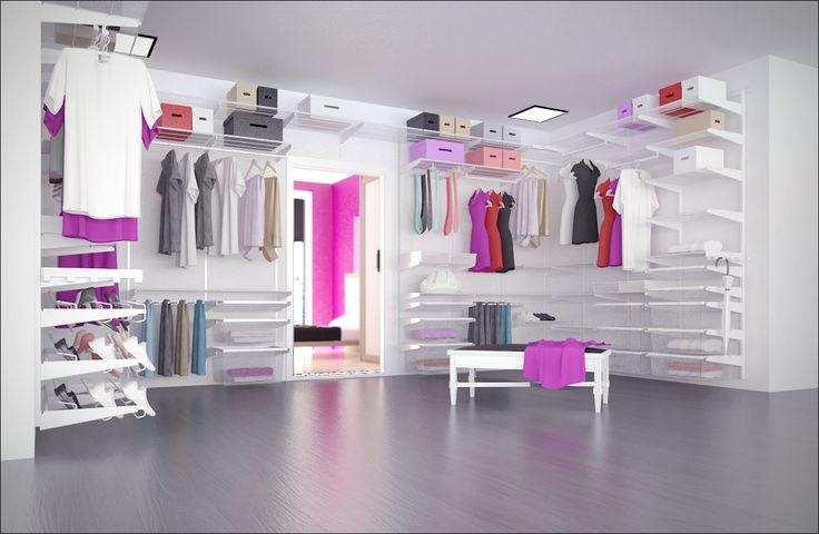 System Elfa stanowi alternatywę dla standardowego wyposażenia szafy czy garderoby, jak również zabudowy łazienki, kącika biurowego, spiżarni lub garażu. Cały system składa się z kilkudziesięciu elementów wykonanych ze stali lakierowanej proszkowo na kolor biały lub platinum. Podstawę stanowią elementy konstrukcyjne - szyny i wsporniki, zaś wyposażenie to półki ażurowe lub półki z forniru, kosze siatkowe, wieszaki na spodnie, wieszaki na krawaty, drążki na buty i inne akcesoria.zapraszamy.