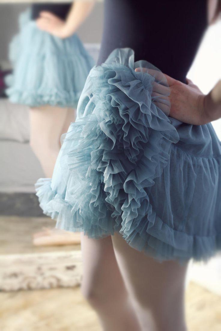 TUTU tulle petticoat underskirt crinolene SEABLUE ballerina frilly underskirt flower girl gothic ROMANTIC wedding skirt Bridesmaid steampunk by footfetishsocks on Etsy
