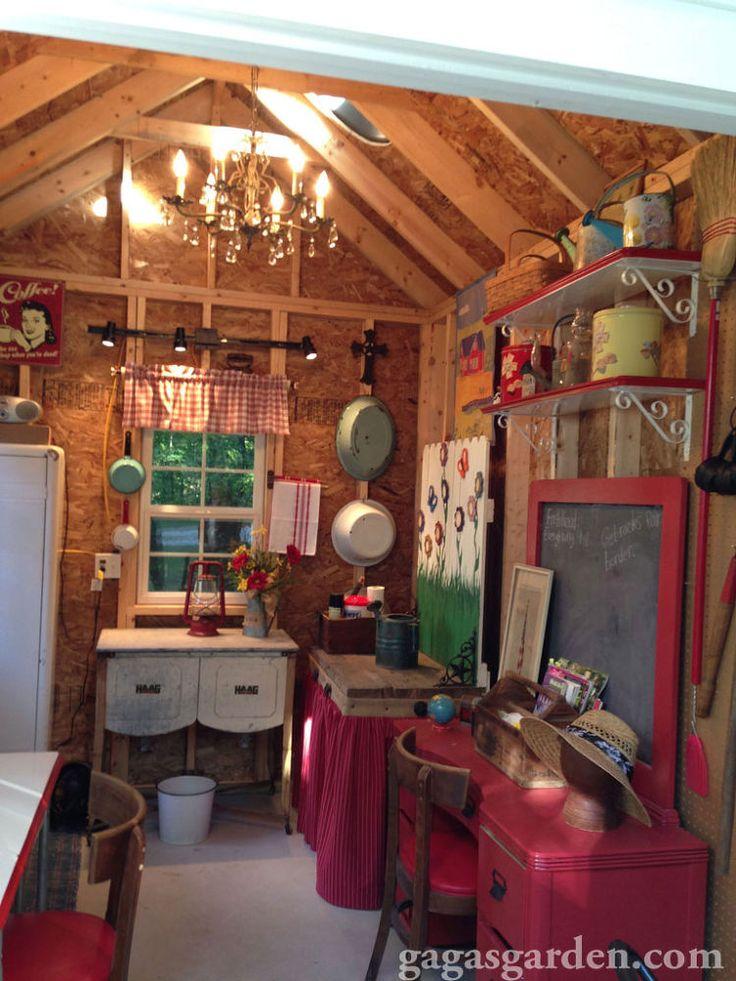 234 best images about cottage garden sheds on pinterest for Garden shed interior designs