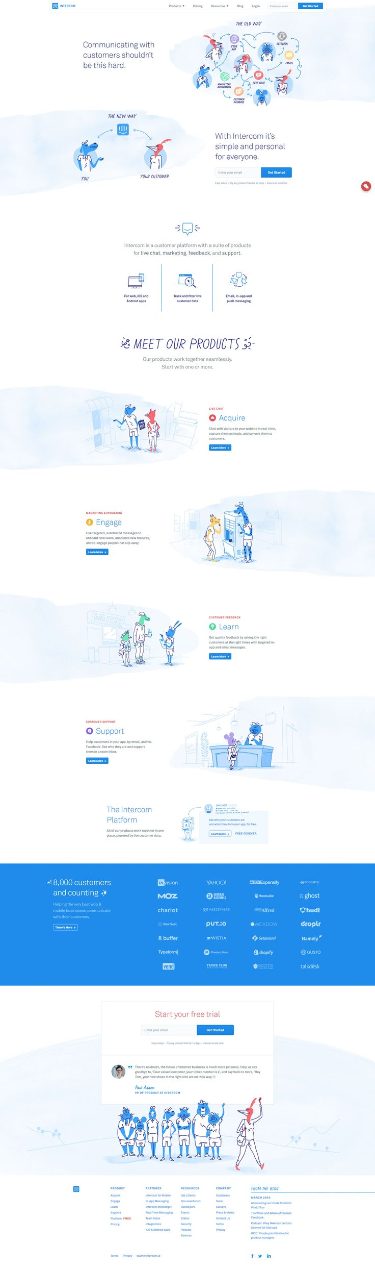 Intercom website - https://www.intercom.io/