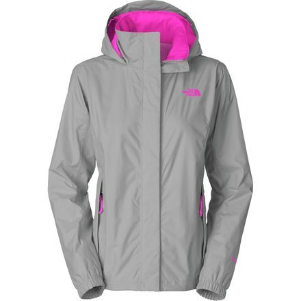 The North Face Resolve Jacket - Women's Mid Grey/Luminous Pink