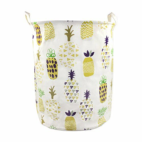 Popular Orino Pineapple Storage Baskets x Inches Laundry Hamper Yellow SUMMER FEEL u TROPICAL Pineapples are popping up in fashion weddings and