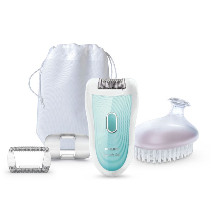 Personal Edge : Philips SatinSoft Rechargeable Epilator HP6521/01 - Mint/White