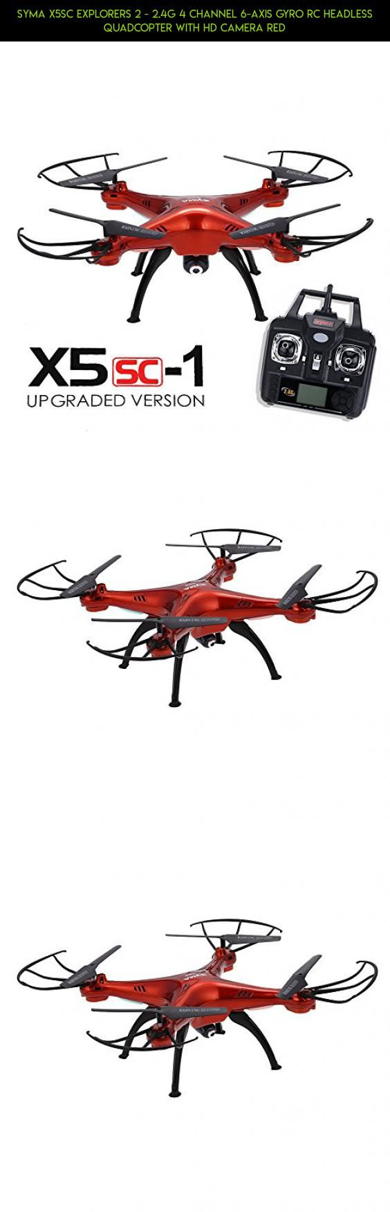 Syma X5SC Explorers 2 - 2.4G 4 Channel 6-Axis Gyro RC Headless Quadcopter With HD Camera Red #drone #plans #control #2.4g #wi-fi #x5sw #with #fpv #quadcopter #kit #gadgets #products #tech #parts #camera #racing #shopping #remote #camera #technology #syma