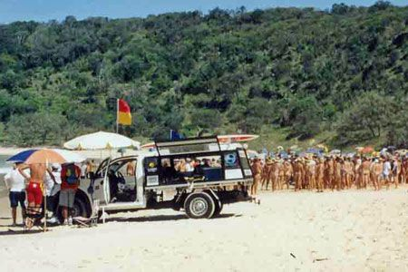 Nude beach carnival held at Noosa every March. Open to everyone. Expect to be naked amongst a fun family crowd of 500. More details here www.noosanude.weebly.com