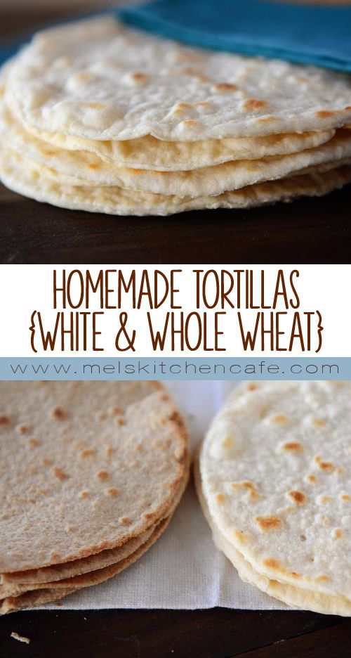 This post includes step-by-step photos for making delicious, fresh white OR whole wheat tortillas at home. It is much easier than you think!