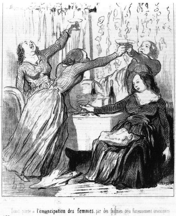 Toast porté à l'émancipation des   femmes par des femmes déjà  furieusement émancipées #champagne 1848