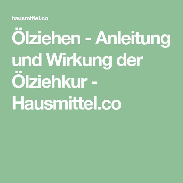 Ölziehen - Anleitung und Wirkung der Ölziehkur - Hausmittel.co