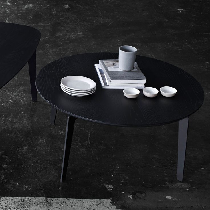 Fritz Hansen Join Coffee Table Black Lacquered Oak | Coffee Tables | Furniture | Heal's