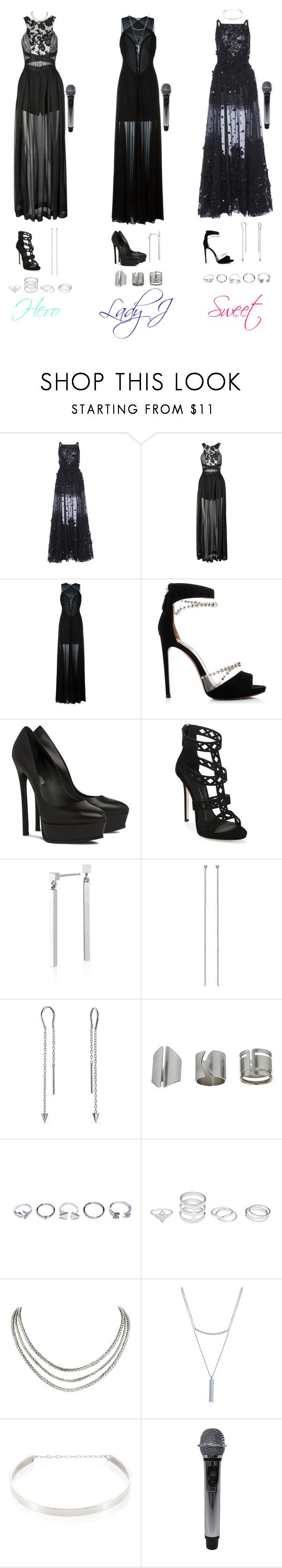 """HotQueens - All Night / Performance"" by junnie-poet ❤ liked on Polyvore featuring Elie Saab, Three Floor, Jay Ahr, Alaïa, Casadei, Giuseppe Zanotti, Blue Nile, Bling Jewelry, Topshop and GUESS"