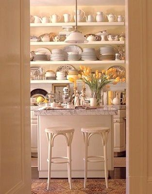 love all the open shelves to show off my beautiful wares...