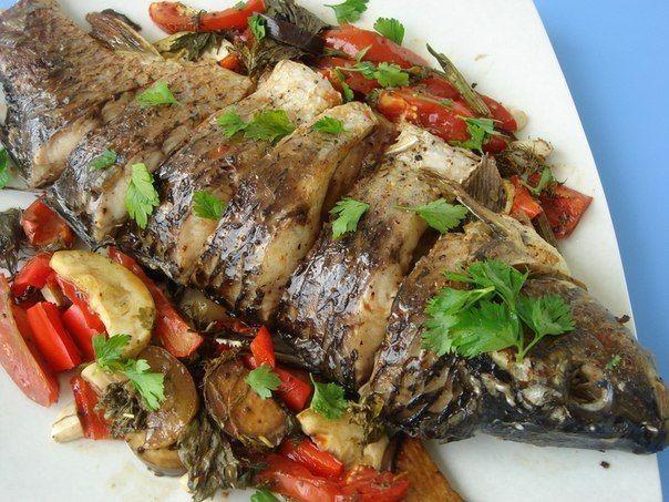 Запеченная рыба с овощами   Kurkuma project (Проект Куркума)