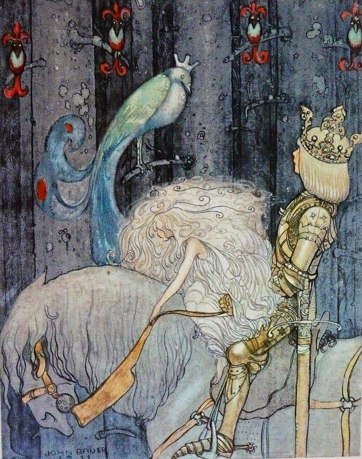 fleurdulys:  Illustration by John Bauer  Cover illustration for Till Sagolandet / To Fairyland, ca. 1911 (Source)