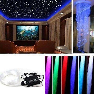 Perfect LED Sternenhimmel Glasfaser Lichtfaser Lichtpunkte Leuchten W Dimmbar RGB
