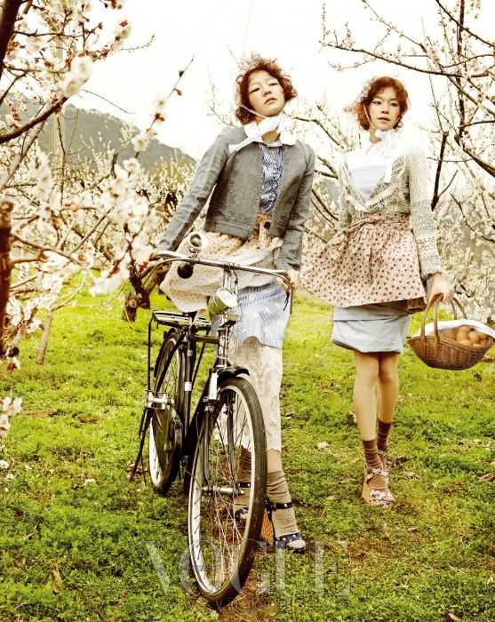 """""""Country Song"""" fashion spread Vogue Korea 