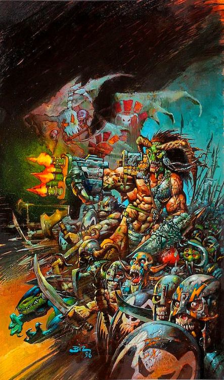 Lord Tyler & Army, FAKK2 illustration, 1998 // Simon Bisley