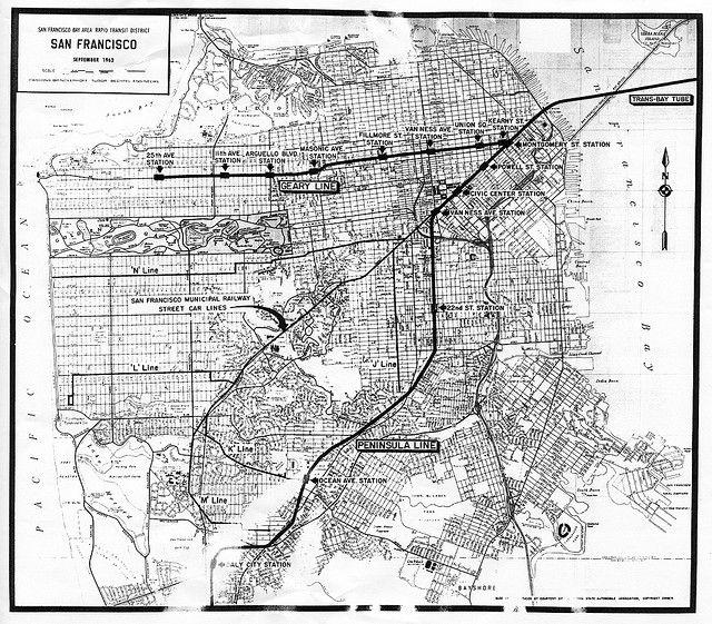 Bay Area Rapid Transit District: San Francisco, September, 1962