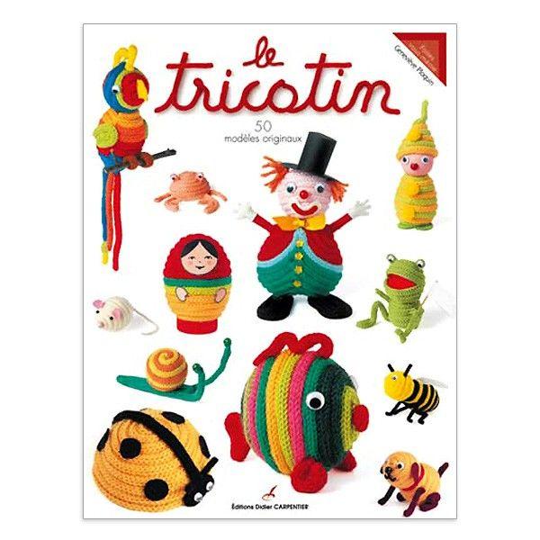 """Avec le livre """"Le tricotin, 50 modèles originaux"""", faites vous plaisir avec 50 charmants sujets multicolores et originaux à partir d'une simple tresse en laine ou en coton. http://www.magiedelalaine.com/autres-livres/251-tricotin-50-modeles-originaux.html"""