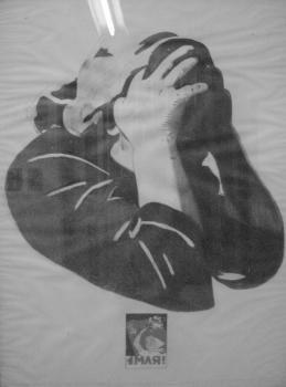 """Eduardo Arroyo """"Passionnata"""" crayon sur papier cartonné, 78 x 106 cm, 1971"""
