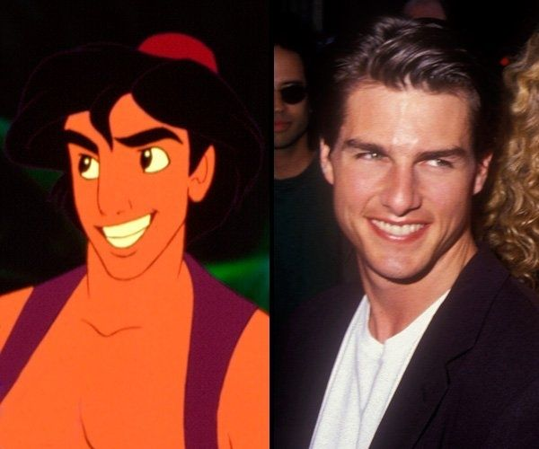 """Aladdin was modeled after Tom Cruise. 