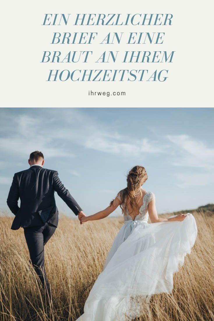 Ein Herzlicher Brief An Eine Braut An Ihrem Hochzeitstag Schwester Hochzeit Hochzeitstag Rede Hochzeit