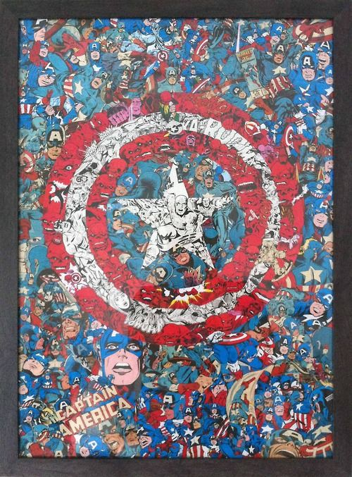 Captain America Comic Collage