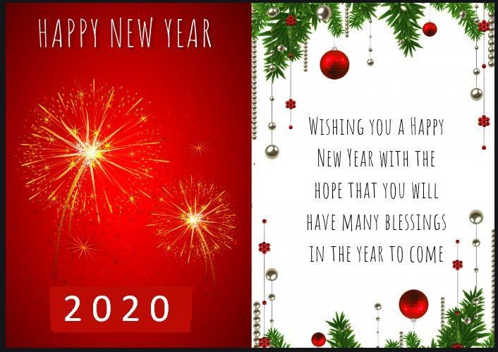 Happy New Year 2020 Greeting Card Designs Ideas Wishes Msgs Designs Ideas Wishes New Year Wishes Cards Happy New Year Greetings Happy New Year Wishes