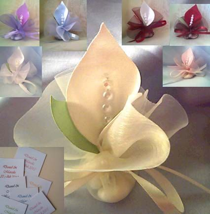 luxury handmade wedding favors calla lily crystal ivory by adiart1, $1.30