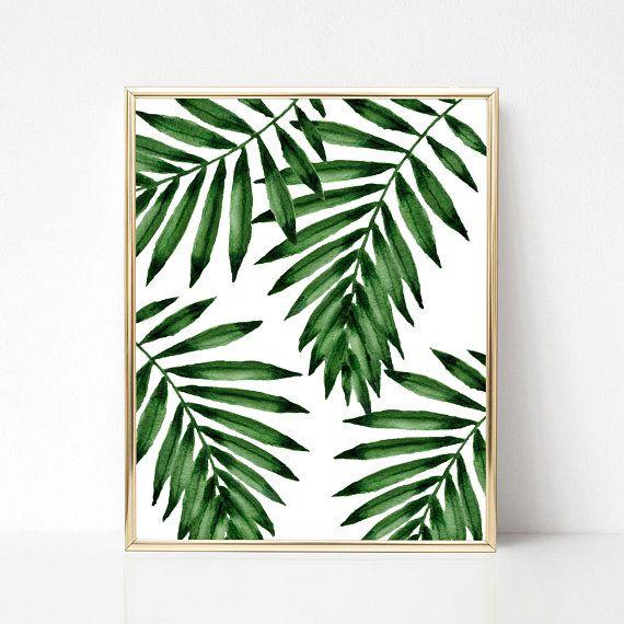 3 Druckbare Pflanzen Poster A2 druckbar Wandkunst Print Monstera-Aquarell-Druck Monstera blätter botanischer Download tropisch Pflanzen