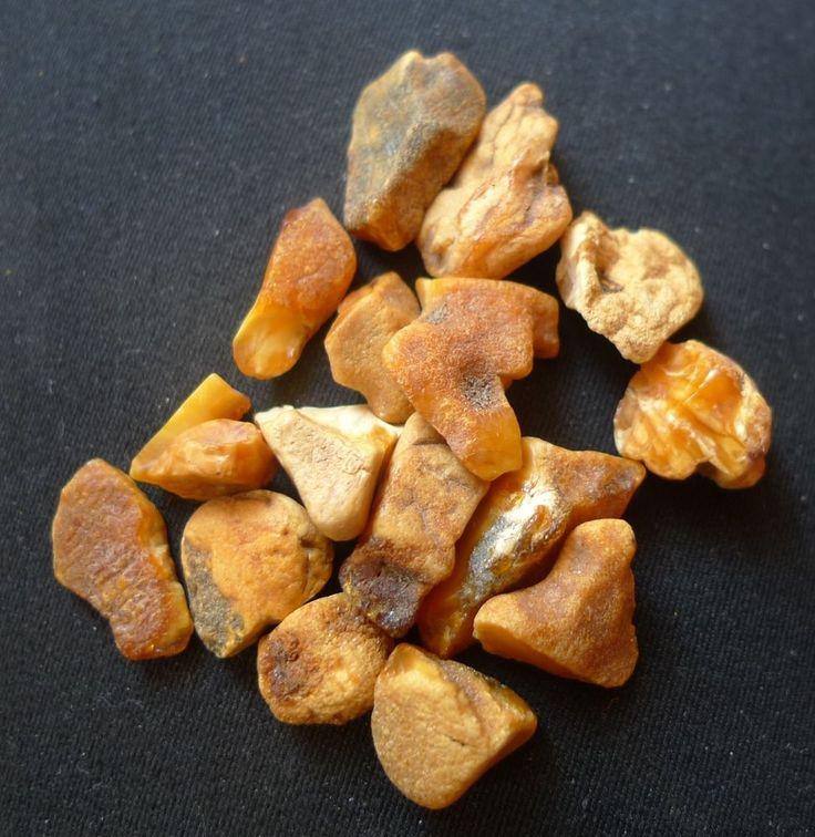 c11 Natural Yellow Honey Baltic Amber loose rough gems gemstones chips 8.9g