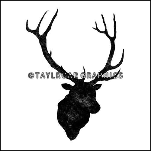 Elk silhouette custom tattoo design. www.taylroargraphics.com