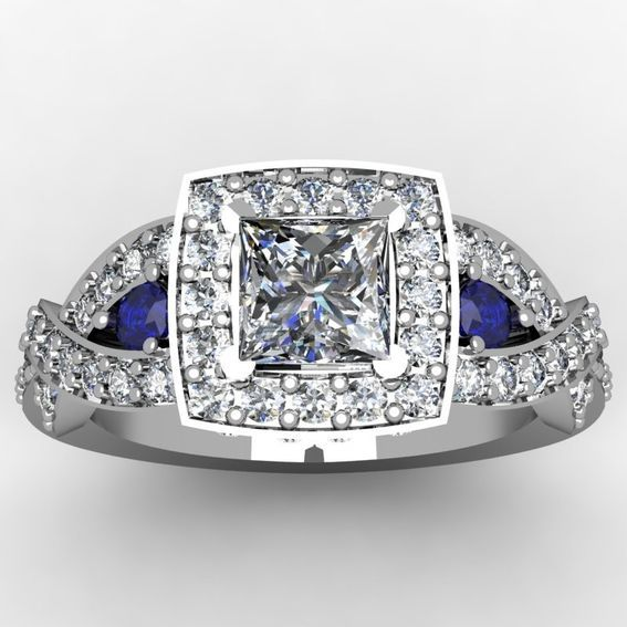 Custom Made Princess Cut Diamond Ring