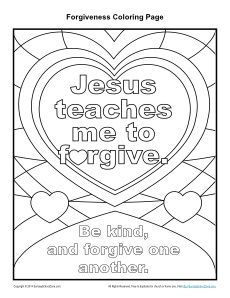 jesus teaches me to forgive printable coloring page - Colouring Activities For Toddlers