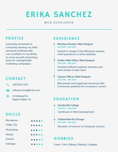 80 best Resume Ideas images on Pinterest